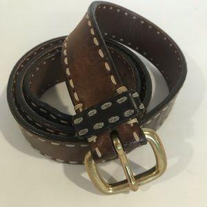 "Cole Haan Leather brown Belt Sz 40 1 1/4 ""W"